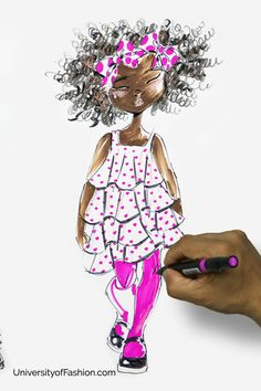 Watch and learn contemporary kid's drawing and illustrating techniques at UniversityofFashion.com. Fashion Graphic, Fashion Art, Kids Fashion, Fashion Sketches, Drawing Fashion, Fashion Illustrations, Contemporary Fashion, Drawing For Kids, Art Inspo
