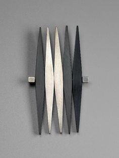Brooch | Betty Cooke. Silver and black Plexiglass. ca. 1953.