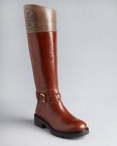 Tory Burch Flat Riding Boots - Daniela   Bloomingdale's