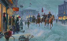 Mort Kunstler: Winter Riders,  Raleigh, North Carolina February 5, 1863