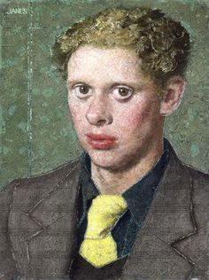 ~ portrait of Dylan Thomas ~ by Alfred Janes ~