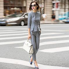 Women's New Fashion Causal Suit(Blouse&Pant). Like this style? Click the picture to see more!