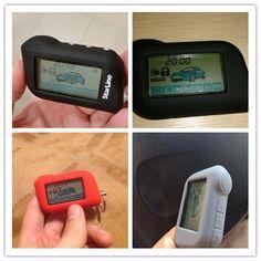 새로운 스타 라인 A93 실리콘 케이스 A63/A93 양방향 자동차 경보 시스템 LCD 원격 컨트롤러 자동차 경보 원격 컨트롤러