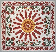 """1850 - 1860 Susan Holbert's """"Little Sister's Quilt"""" 