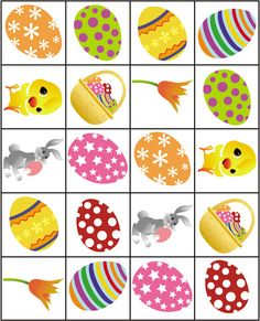 Printable Easter Memory Game