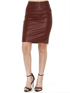 #boutiquetoyou.com        #Skirt                    #Olivaceous #Faux #Leather #Pencil #Skirt #Rust     Olivaceous Faux Leather Pencil Skirt In Rust                                  http://www.seapai.com/product.aspx?PID=975951