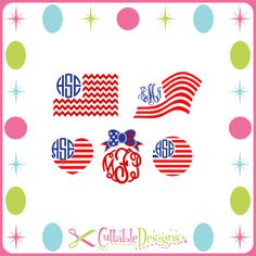 USA Flag United States of America Monogram Cut Files DFX / SVG / pdf This is a Cutting file can be used with your Silhouette Studio software,