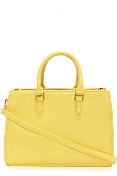 Brights Out Bright Yellow Handbag