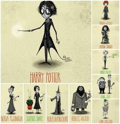 My favorites combined tim Burton and Harry Potter Tim Burton Stil, Tim Burton Art, Harry Potter Universal, Harry Potter World, Hogwarts, Tim Burton Characters, Johny Depp, Yer A Wizard Harry, Film D'animation