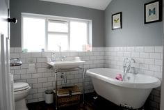 Our bathroom makeover on a budget. As seen in Style at Home Magazine! Our bathroom mak Cottage Bathroom Design Ideas, Diy Bathroom Decor, Bathroom Towels, Bathroom Sets, Small Bathroom, White Bathroom, Wooden Bathroom, 1930s Bathroom, Silver Bathroom