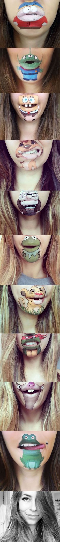 Pinterest: @ ndeyepins – Awesome Lip Makeup