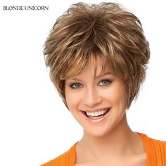 56.00$  Buy now - http://alir5u.worldwells.pw/go.php?t=32659224498 - Blonde Unicorn Fashion Wigs Layered Short Human Hair Wigs For Women Spiffy Fluffy Human Hair Wig 15 Colors Global Free Shipping