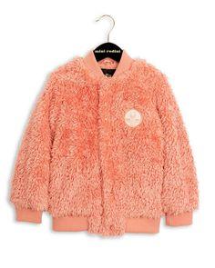Mini Rodini - Pile Baseball Jacket In Pink