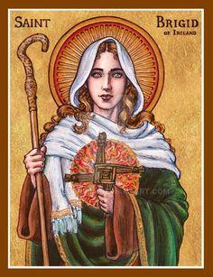St. Brigid of Ireland icon by Theophilia.deviantart.com on @DeviantArt