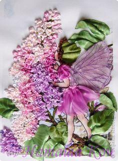 """Картина, панно Вышивка: Моя """"Фея Сирени"""". Вышивка лентами. Ленты. Фото 1 beautiful needlework fairy and flower!"""