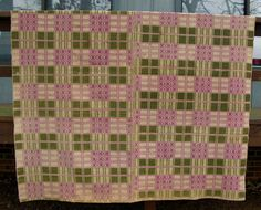 Antique C 1800's Overshot Coverlet Wool on Cotton Home Loomed Reversible   eBay