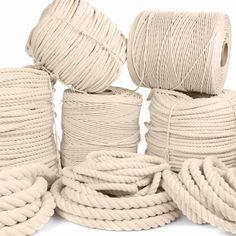 Macrame Supplies, Macrame Projects, Diy Craft Projects, Sisal, White Rope, Rope Crafts, Macrame Cord, Macrame Knots, Macrame Design