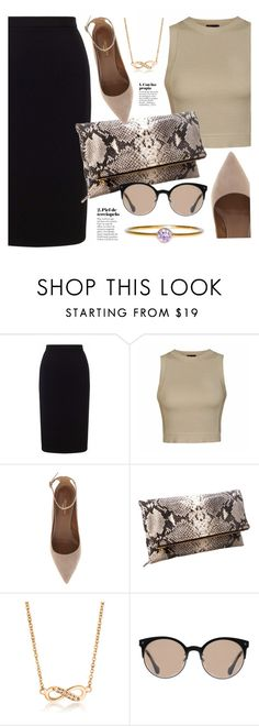 """""""Python Leather"""" by mimicdesign ❤ liked on Polyvore featuring Roland Mouret, Ally Fashion, Aquazzura, Balenciaga, black and beige"""