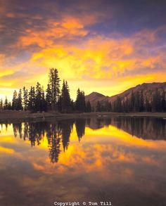 ~ Sunset & Alpine Pond ~ High Uintas Wilderness, Utah   Ashley National Forest....