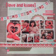Love this Valentine's layout by Melissa Gener! @ellapublishing