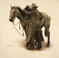 Cowboys and Their Horses | Art Country Canada - JAMES BAMA The World's largest online collection ...