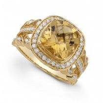 Citrine And Diaond Ring