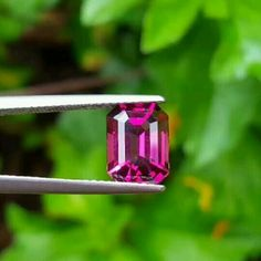 "27 Likes, 3 Comments - Suma Boutique (@sumagemboutique) on Instagram: ""3.00 Carats Untreated Natural Clean Eye Pinkish Red Rhodolite Garnet  Dimensions : 9.60 X 7.05 X…"""