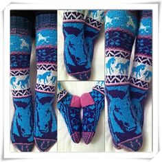 / socks for a rider-girl! Knitting Socks, Hand Knitting, Knitting Patterns, Crafts To Do, Hobbies And Crafts, Slipper Socks, Slippers, Colorful Socks, Bunt