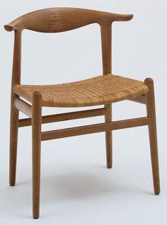 "hans wegner walnut + cane ""cowhorn"" chair | 1952 | #vintage #1950s #home"