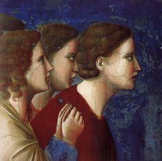 Giotto, Particolare delle Storie di Maria e di Gesù, 1303-1305, affresco Padova, Cappella degli Scrovegni