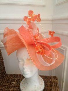 Chapeaux   Un chApeau à Auteuil Millinery Hats, Fascinator Hats, Headpiece, Fascinators, Kentucky Derby Race, Orange Gloves, Best African Dresses, African Hats, Derby Outfits
