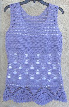 Lavender Crochet Tank Top by LolasWonders on Etsy, $79.00 Crochet Tank, Beautiful Crochet, Tunics, Women's Clothing, Lavender, Tunic Tops, Clothes For Women, Trending Outfits, Unique Jewelry
