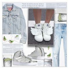 """""""♠ Fly Away"""" by paty ❤ liked on Polyvore featuring LSA International, H&M, MANGO, adidas Originals, HAY, adidas and jeans"""