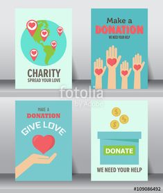 give and share your love to poor people charity and donation poster set can be use for background and invitation card brochure layout template in size