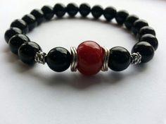 METTLE  Dyed Red Jade Men's Beaded Bracelet by KALYD on Etsy