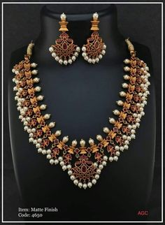 India Jewelry, Jewelry Art, Gold Jewelry, Jewelery, Peacock Necklace, Beaded Necklace, Gold Necklaces, Gold Jewellery Design, South India