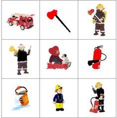 Memory prentjes 1 Community Helpers, Firefighter, Professor, School, Cards, Firefighters, Heroes, English, Birthday