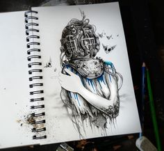 25 Attractive Sketchbook Art by Pierre Yves Riveau | The Design Inspiration