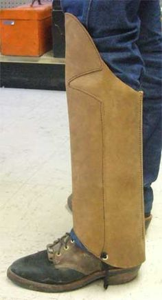 Protective Leather Snake Chaps Or Gaiters
