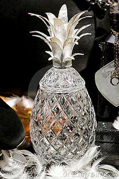 Sklenice ananas * ručně broušené sklo, český křišťál * Bohemia Crystal CZ.