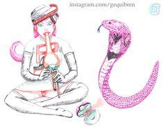 Pokemon - Arbok enchantress (Jessie-Musashi) + Some kobra sketches, Gequibren Art on ArtStation at https://www.artstation.com/artwork/oDY1q