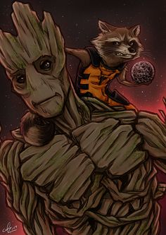 Guardians of the Galaxy - We are Groot by Kumagorochan.deviantart.com on @deviantART