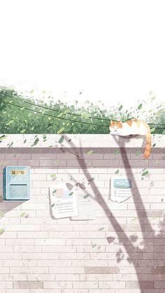 Get Best Anime Wallpaper IPhone Scenery Kawaii Wallpaper, Tumblr Wallpaper, Cartoon Wallpaper, Wallpaper Backgrounds, Iphone Wallpaper, Love Illustration, Anime Scenery, Aesthetic Art, Aesthetic Pastel