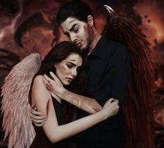 Angels And Demons, Angel Art, Heaven, Romance, Fan Art, Club, Couple Photos, Drawings, Fictional Characters