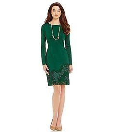 Antonio Melani Netty Lace Scuba Dress #Dillards