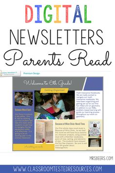 Elementary teachers share tried and true resources tested in our own classrooms - Classroom Tested Resources Classroom Newsletter, First Year Teachers, Parents As Teachers, Teaching Tools, Teaching Resources, Teaching Ideas, Teaching Career, Teaching Music, Teachers