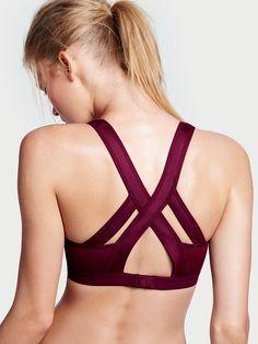 Victoria's Secret SportNEW! Incredible by Victorias Secret Strappy-back Sport Bra: Hello Lovely/Deep Ruby Splice (2 of 4)