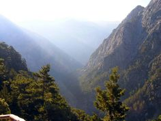 Samaria Gorge during Sunrise