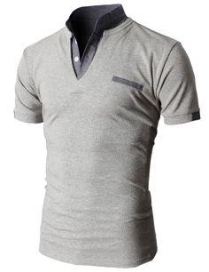 Doublju Men's Unique Hybrid Fashion Polo Shirts with Short Sleeve Urban Fashion, Mens Fashion, Men Accesories, Corporate Wear, Professional Dresses, Polo Shirts, Gentleman Style, Men Looks, Mens Suits
