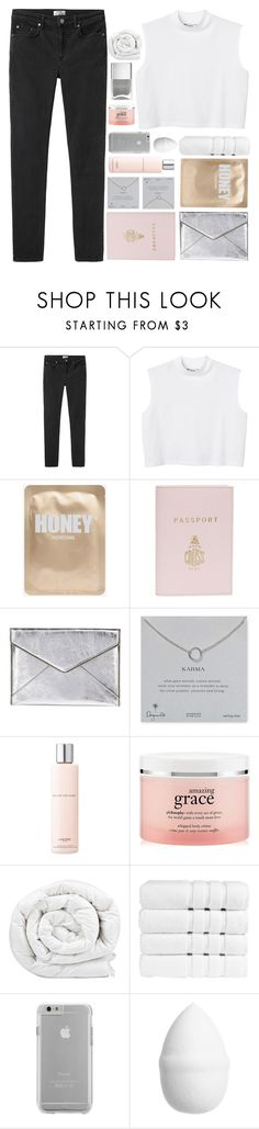 """I REALLY LIKE YOU"" by expresng ❤ liked on Polyvore featuring Acne Studios, Monki, Mark Cross, Rebecca Minkoff, Dogeared, Lancôme, philosophy, Brinkhaus, Christy and Case-Mate"